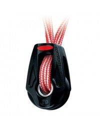 Poulie simple Orbit 20 avec garcette dyneema