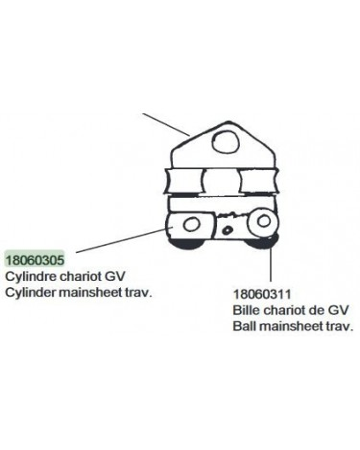 Chariot GV Hobie 18