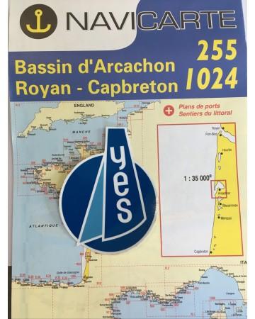 Carte Maritime du Bassin d'Arcachon